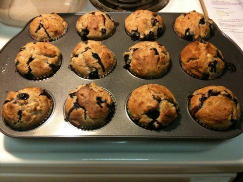 Banana Blueberry Yogurt Muffins
