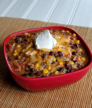Split the Pot Recipe Contest Finalist: Slow Cooker Quinoa Chicken Chili recipe