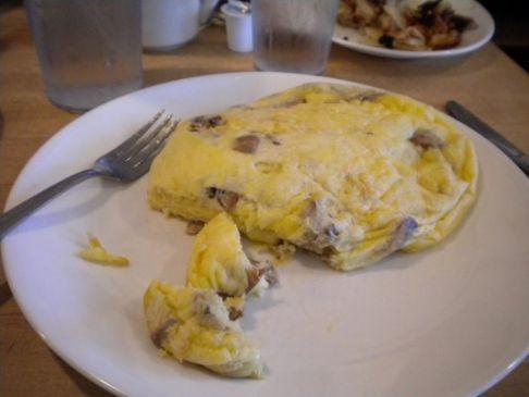 Mushroom & Swiss Omelet