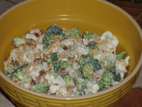 Broccoli & Cauliflower Salad
