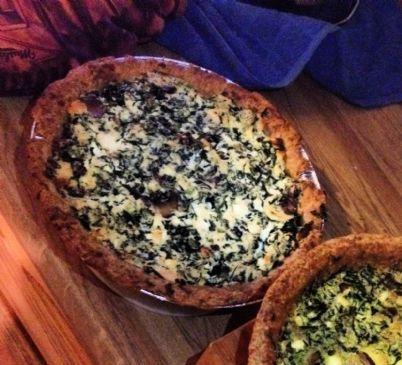 Spinach Mushroom Feta Basil Tofu Quiche