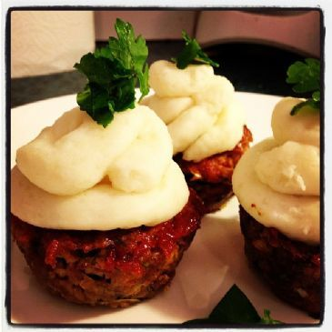 MIni Mushroom Meatloaf Muffins