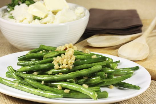 Green Beans with Miso and Almonds Recipe | SparkRecipes