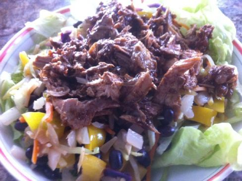 Chicken and Black Beans Casserole with Mole Sauce