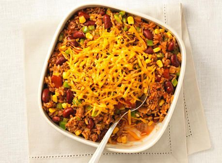 Mexican rice with cheddar