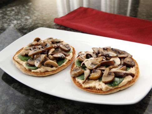 Mushroom & Parsley Mini Pizza