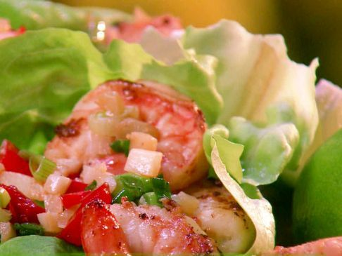 Thai Prawn Lettuce Wraps