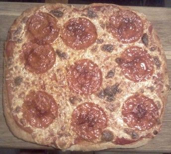 Pepperoni Pizza with Whole Wheat Crust