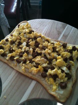 Vegetarian Breakfast Pizza