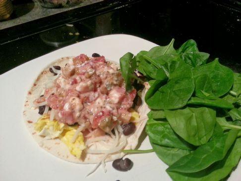 Scrambled Breakfast Taco  #FITFOOD