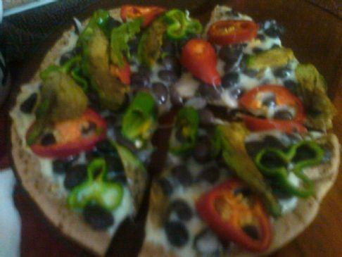 Green mexican pizza