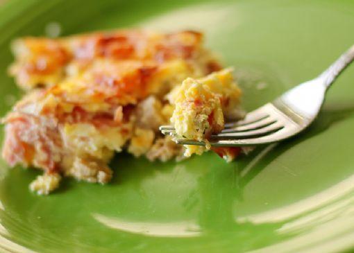 Low Carb Ham swiss quiche