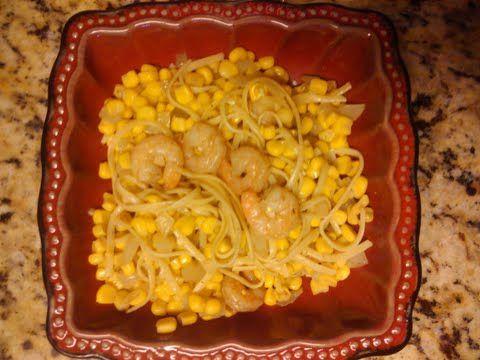 Linguini Simple Shrimp and Corn Meal
