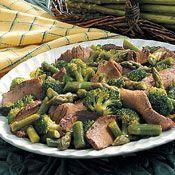 Beefy Broccoli Asparagus Salad