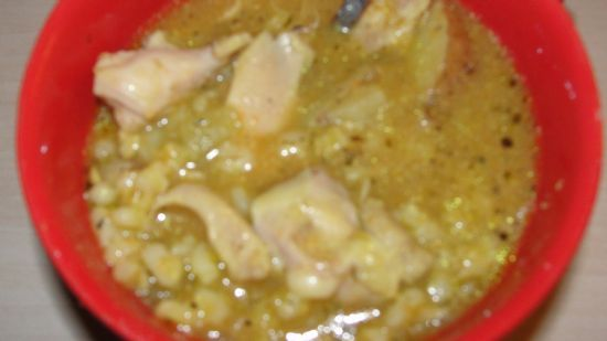 Crockpot Chicken and barley soup