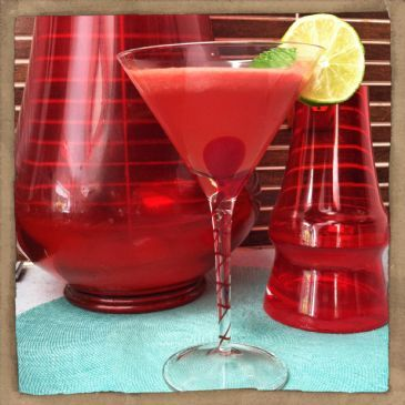 Watermelon, Mint and Lime Spritzer
