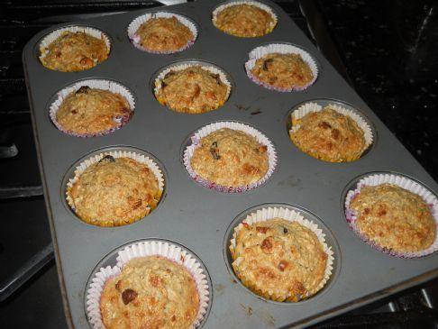 Oatmeal Almond Raisin Muffins