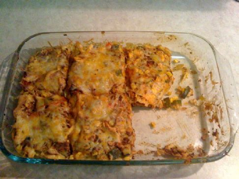 Mexican Chicken Casserole with Veggies