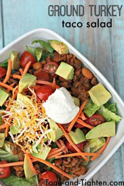 Healthy Ground Turkey Taco Salad