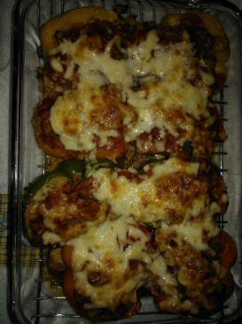 Deb's Spicy Chicken Stuffed Peppers