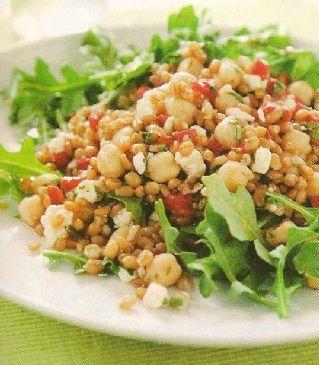 Wheat Berry and Arugula Salad