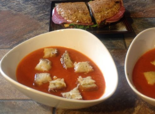 Tomato Soup with Basil & Cilantro