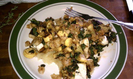 One pan veggie meal