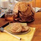Honey peanut butter cookies