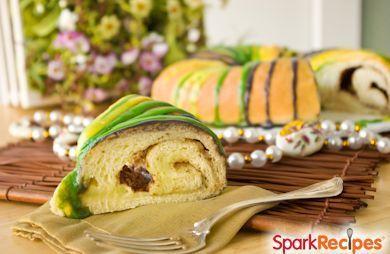 264 Calorie Mardi Gras King Cake