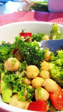 Colourful Chick Pea Salad