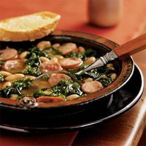 Kale, Turkey Sausage and Cannellini Bean Stew