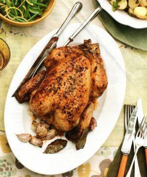 Roast Chook with Garlic & Verjuice