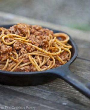 Clean Eating Skillet Spaghetti