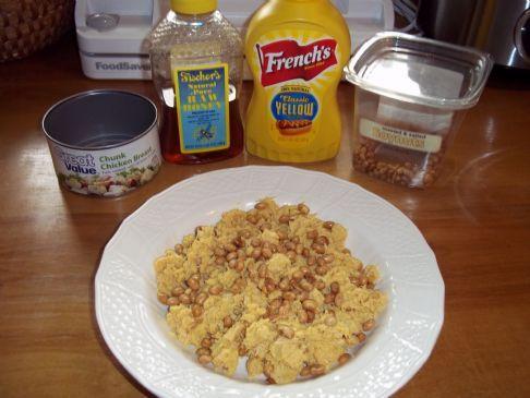 Honey Mustard Chicken Salad with soynuts