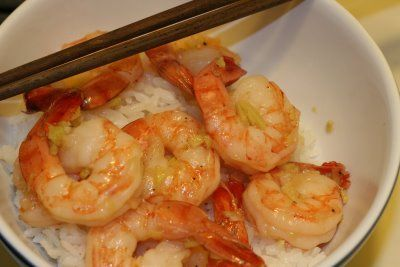 Ginger-Caramel Shrimp