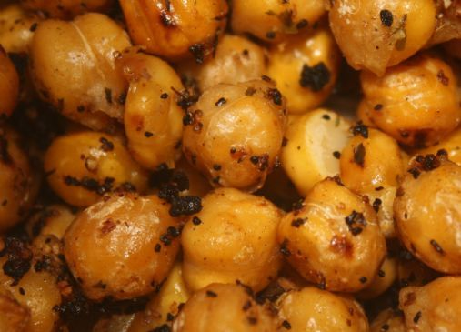 Pan roasted garlic garbanzo beans Recipe | SparkRecipes