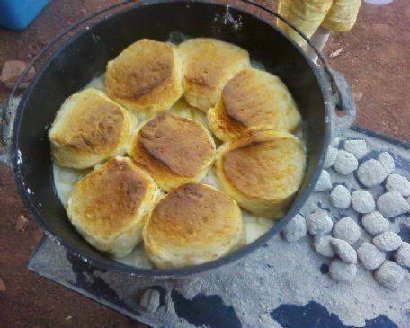 Dutch Oven Chicken 'n Biscuits
