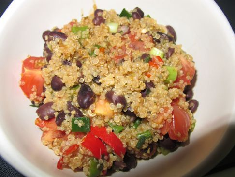 Mexican Flavoured Quinoa with Black Beans