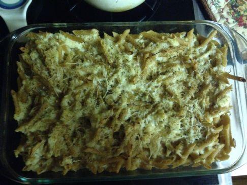 Mac and cheese qwith creamy cauliflower sauce
