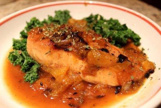 Apricot Chicken w. Steamed Kale