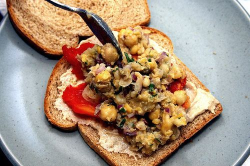 Smashed Chickpea Salad