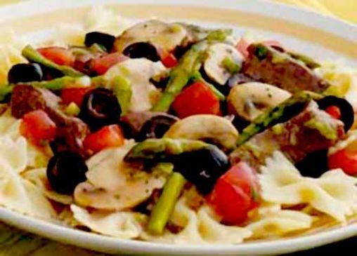 Beef And Asparagus (Pasta if desired)