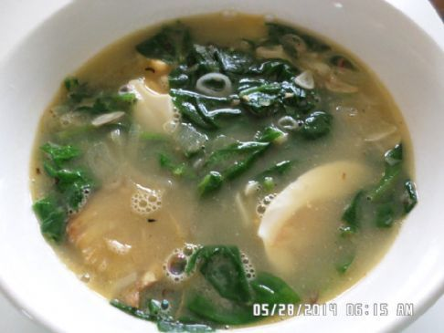 Baby Spinach & Salted Eggs Soup