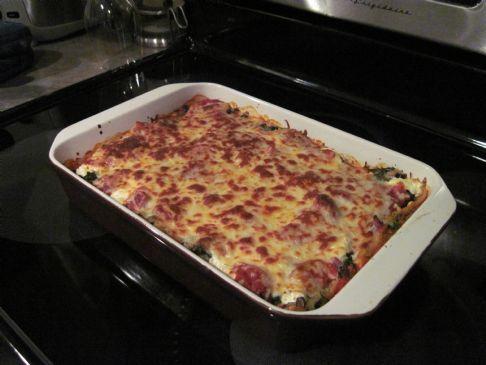 Vegetable Black Bean Lasagna
