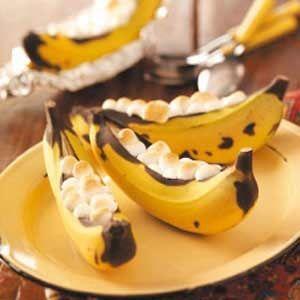 Stuffed Banana Boats - Microwave