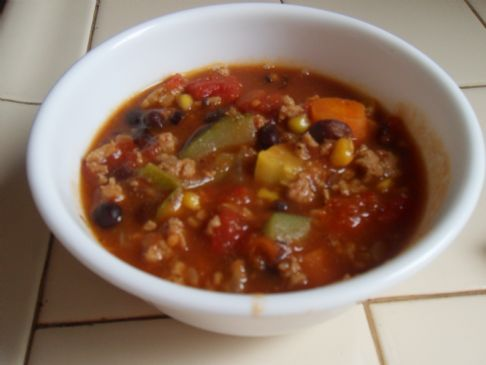 Bonnie's Husband Approved Vegetable Turkey Soup