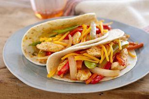 Weeknight Chicken Fajitas; Kraft Recipe