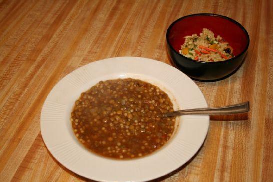 21 Day Menu - Curried Lentil Soup