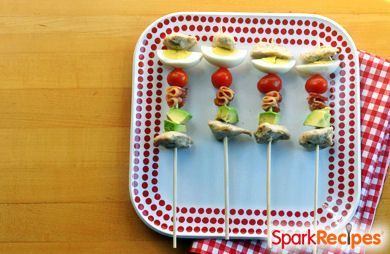 Cobb Salad Party Kabobs
