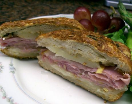 Panini Ham & Cheese Sandwich with Pears